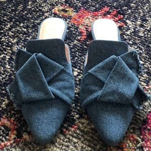 Denim J.Crew slippers